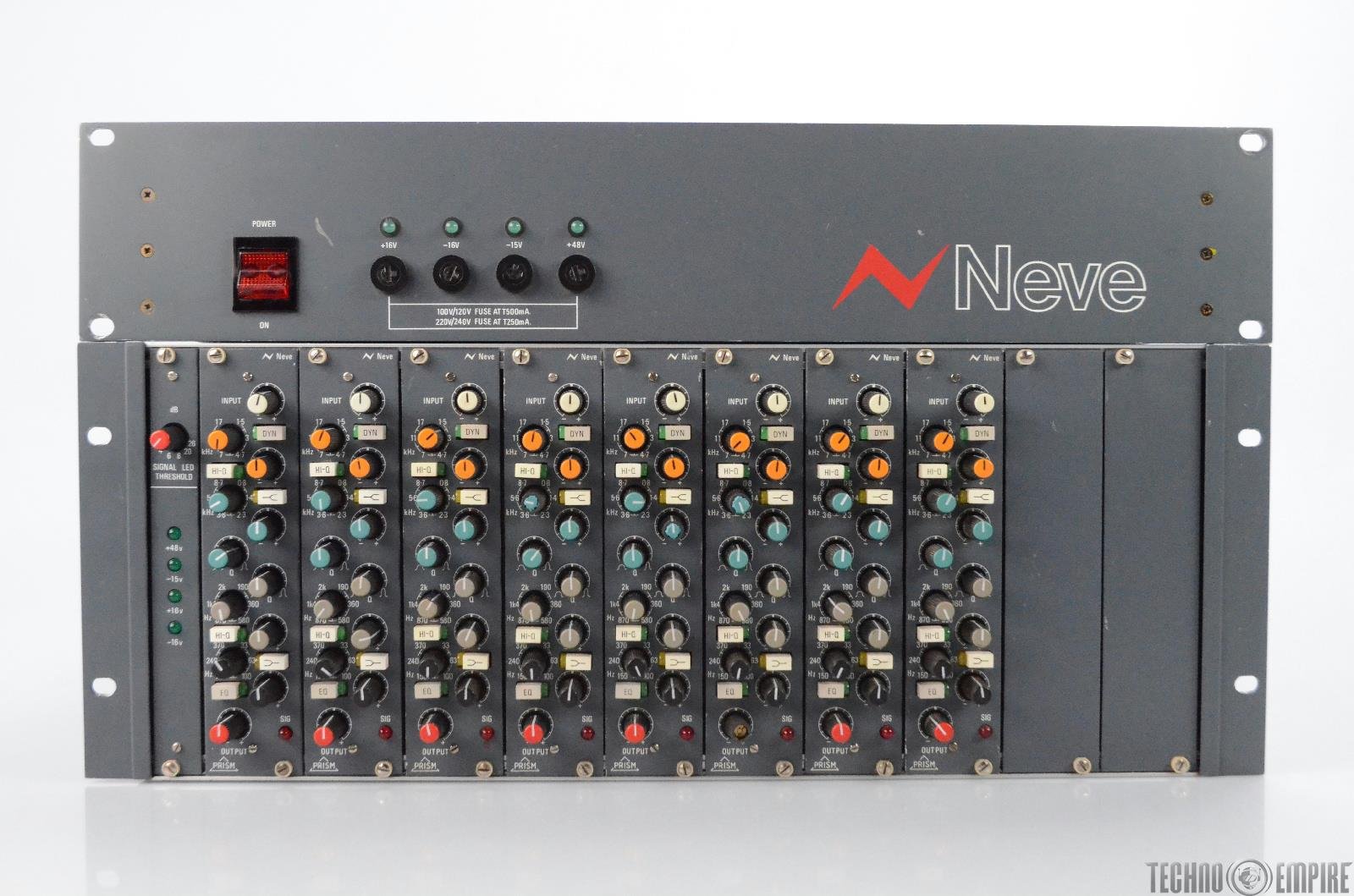 Neve 8 Channel Prism 4-Band Equalizer Modules w/ Power Supply & Cables #31306
