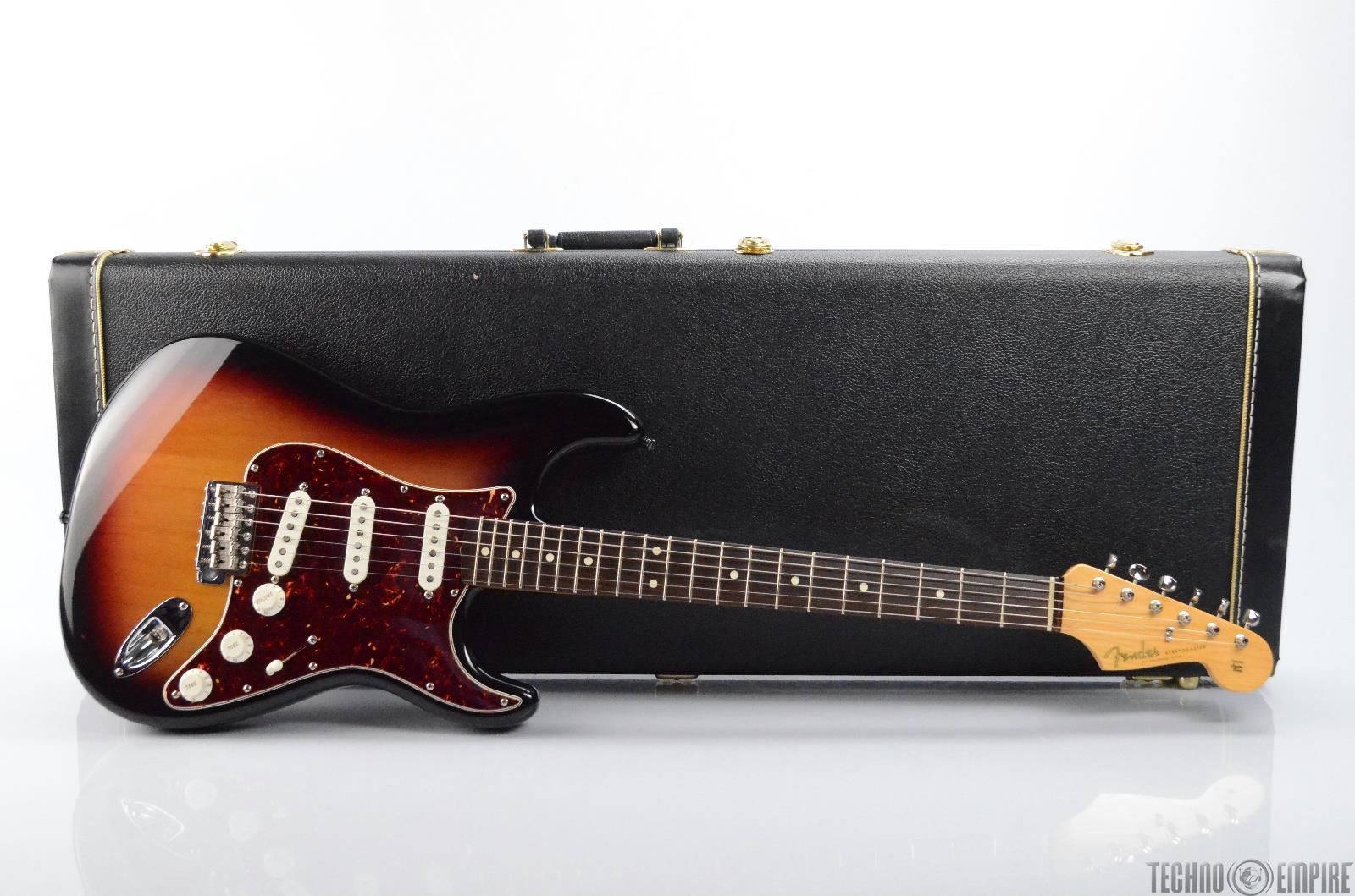 fender john mayer stratocaster electric guitar w case sunburst strat 31293 ebay. Black Bedroom Furniture Sets. Home Design Ideas
