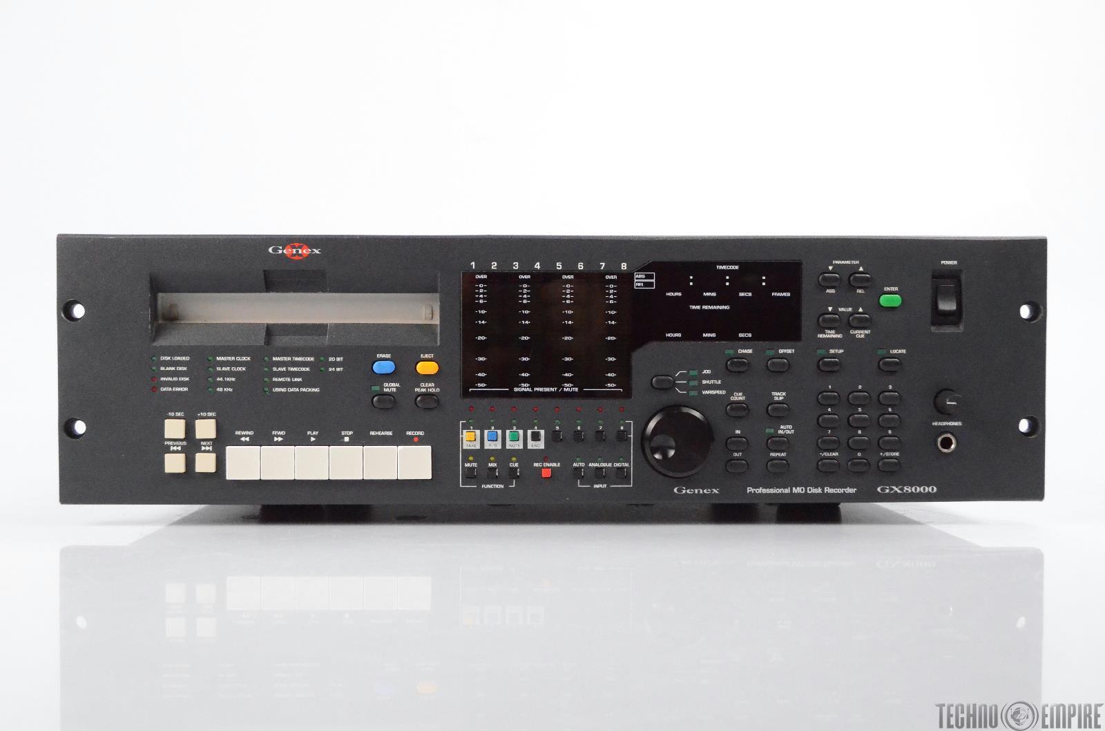 Genex Audio GX8000 8-Channel Professional MO Disk Recorder w/ Manuals #31188