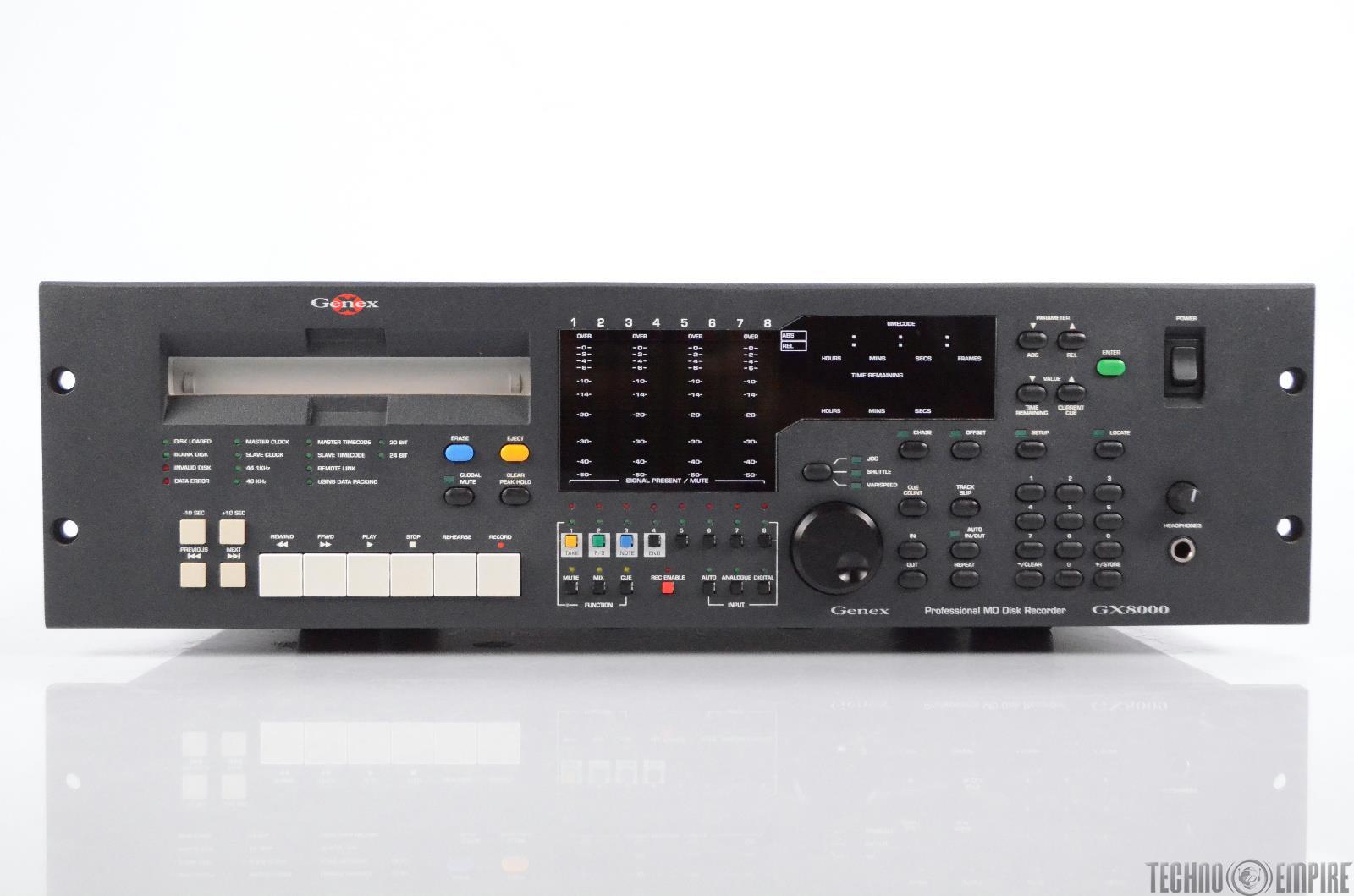 Genex Audio GX8000 8-Channel Professional MO Disk Recorder w/ Extras #31189