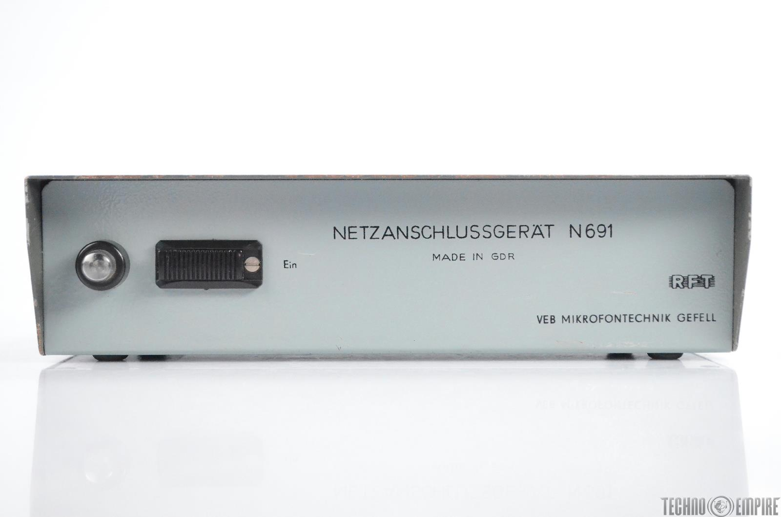Neumann Gefell RFT N691 Microphone Mic Power Supply Netzanshlussgerat 691 #31002