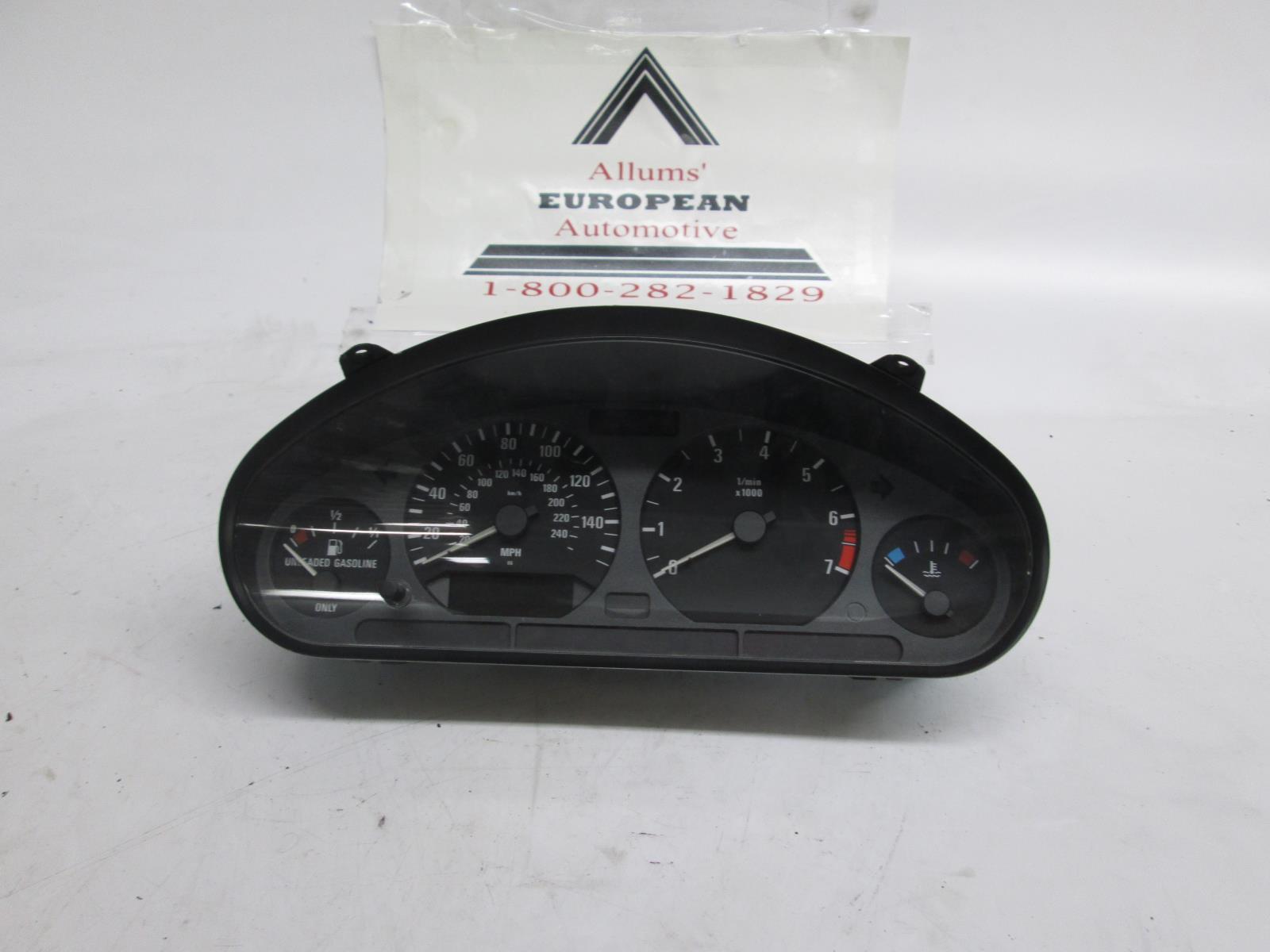 BMW E36 325i 328i 323i speedometer instrument cluster 62118371562 #3