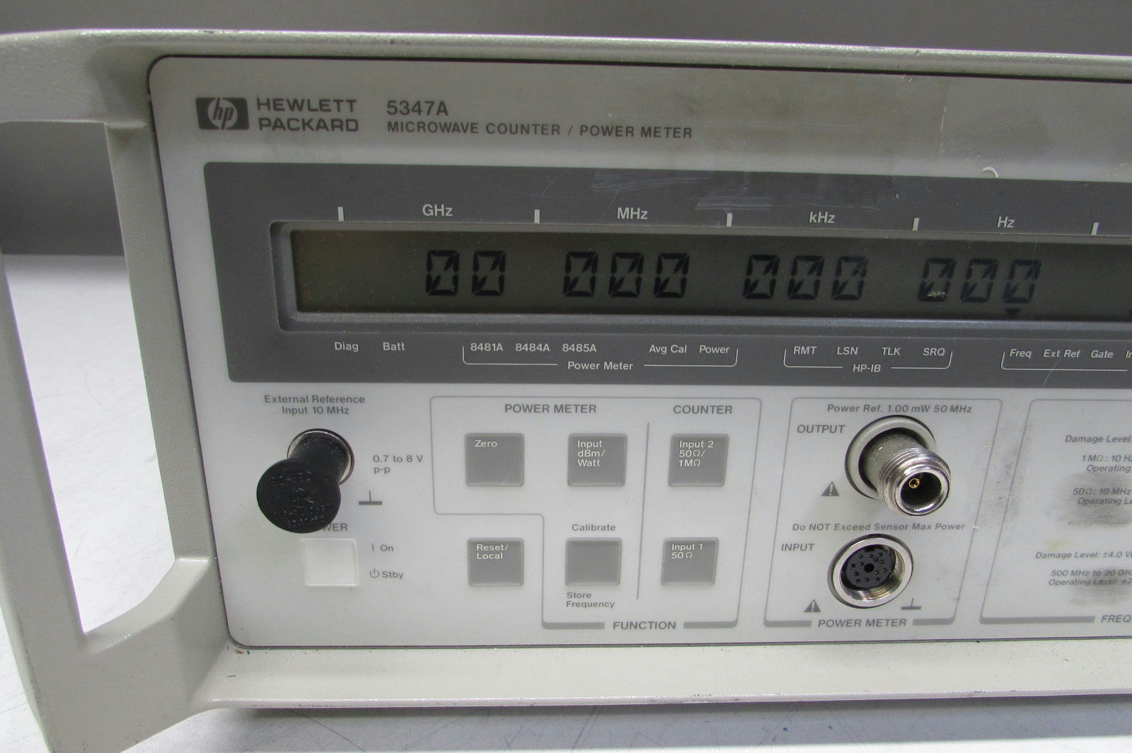 Agilent Hp 5347a 20ghz Microwave Counter Meter