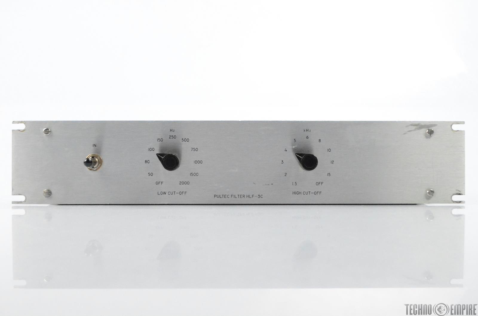 Vintage Pultec HLF-3C Passive Mono High & Low Pass Filter HLF3C Silver #31062