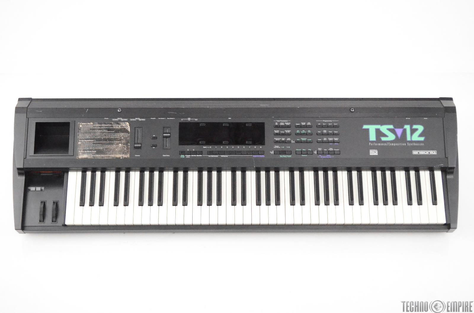 Ensoniq TS-12 76-Key Performance/Composition Synthesizer Keyboard Synth #31309