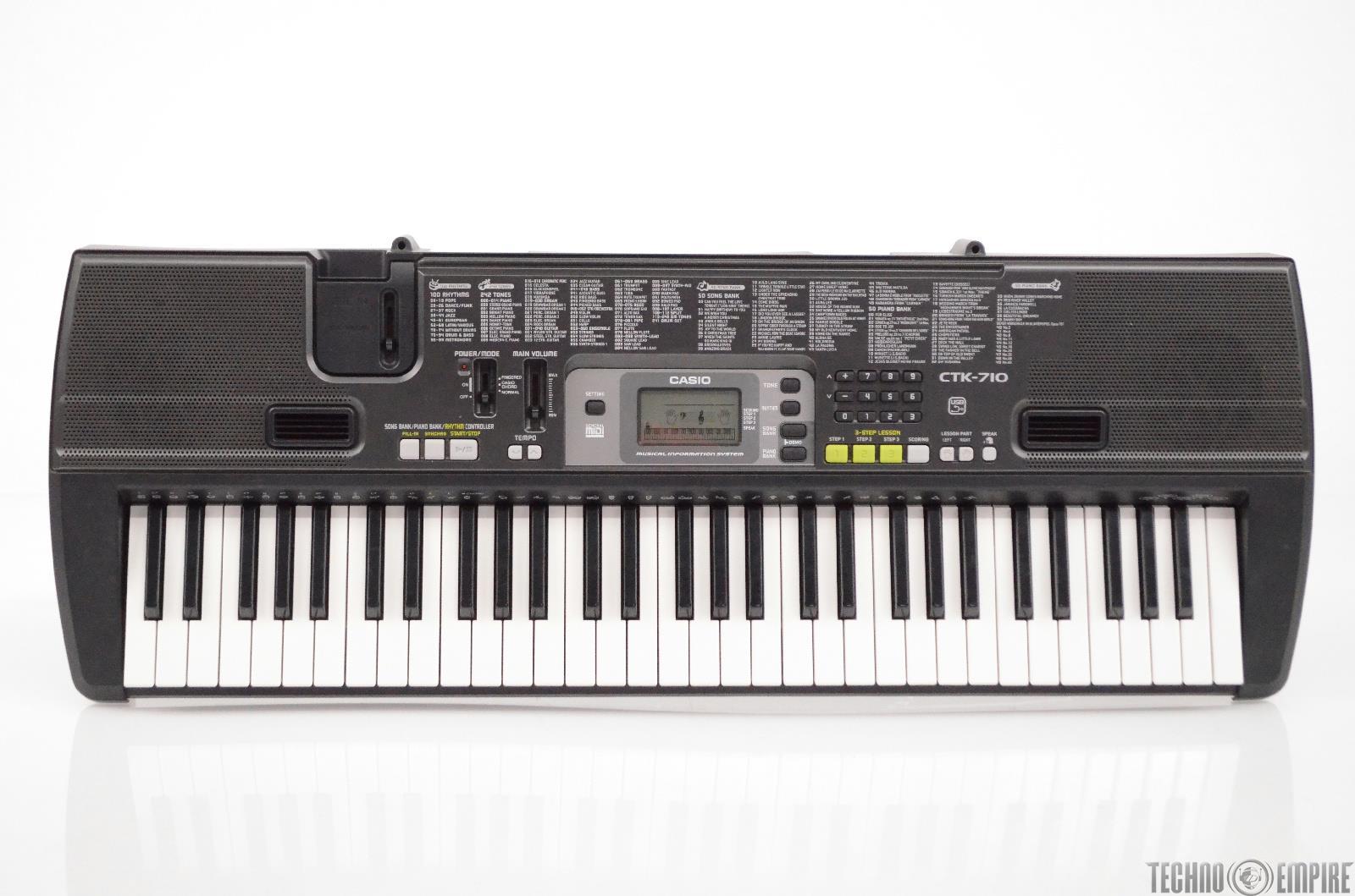 Casio CTK-710 61-Key Portable Electronic Keyboard Electric Piano CTK710 #31448