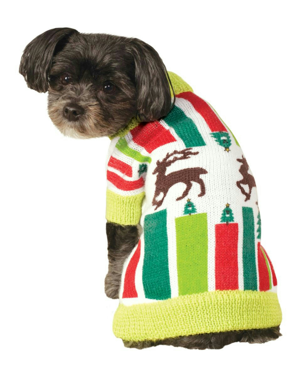 description reindeer ugly christmas sweater pet - Large Dog Christmas Sweaters