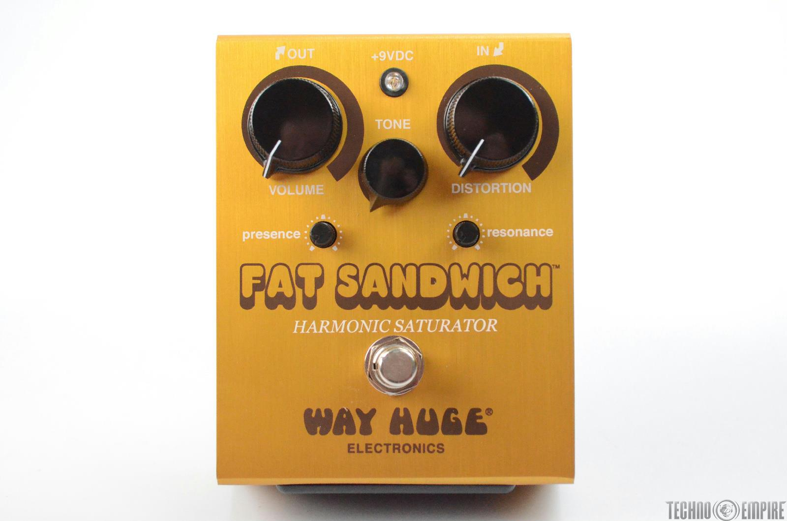 Way Huge Electronics Fat Sandwich Harmonic Saturator Guitar Pedal w/ Box #31333