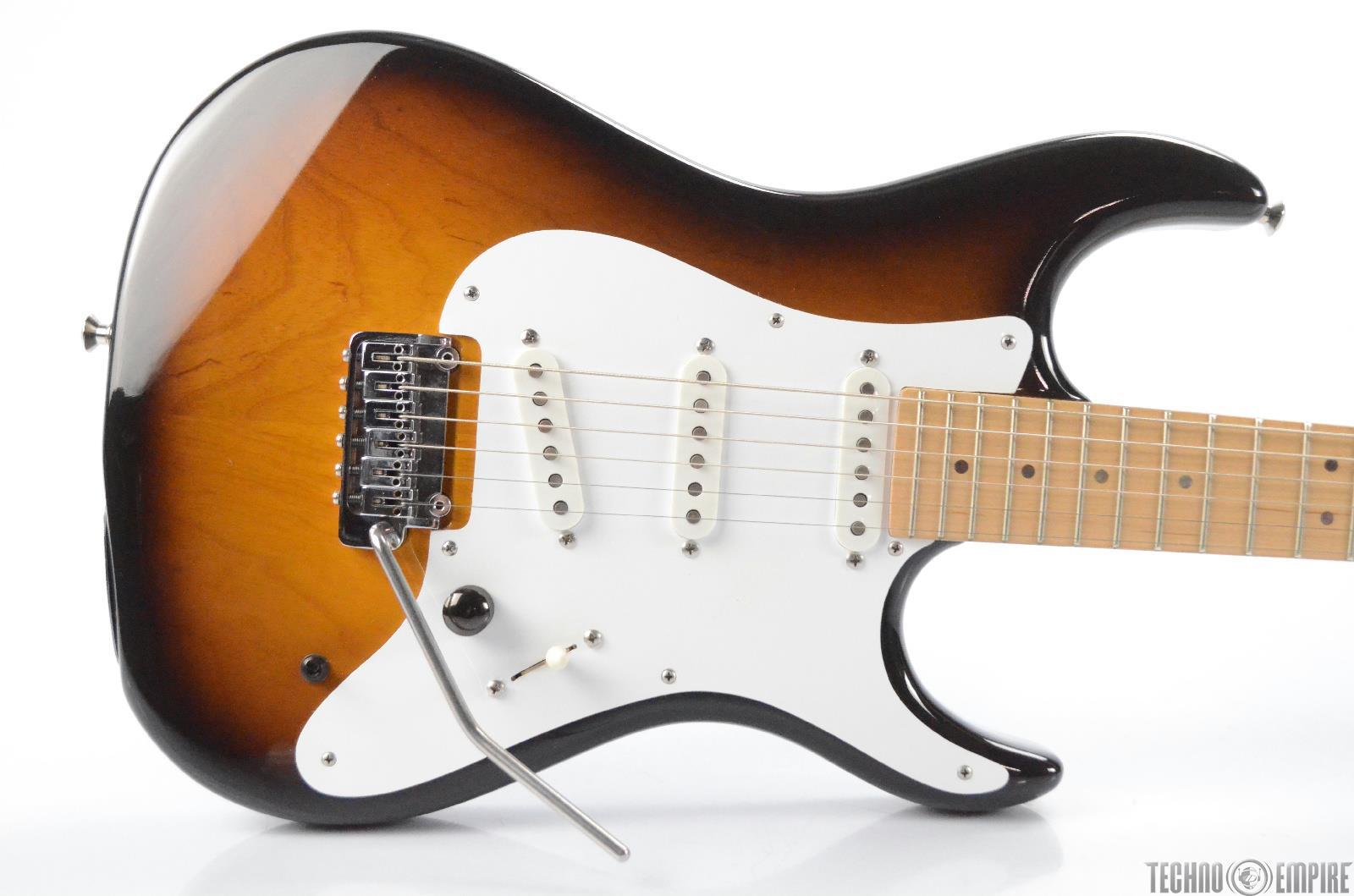"1990s Hamer T-62 ""B"" Baritone Active Electric Guitar w/ Case T62 Sunburst #30089"