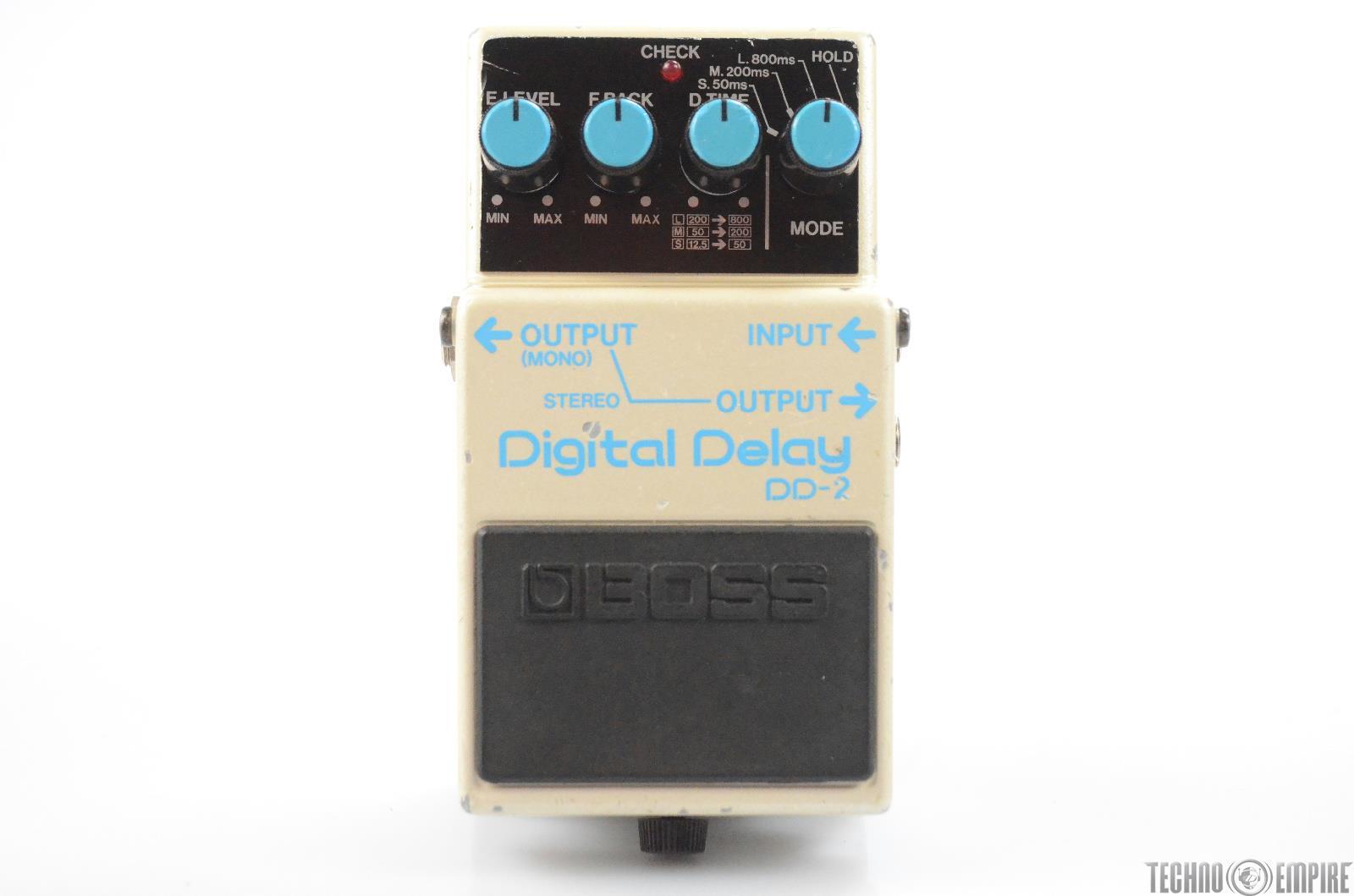 Boss DD-2 Digital Delay Guitar Effect Pedal Made in Japan DD2 Echo #31410