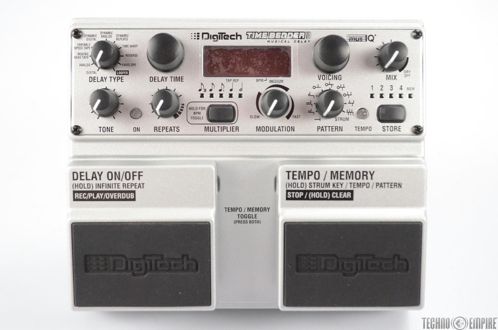 Digitech Time Bender Musical Delay Effect Pedal w/ Box & Power Supply #31424