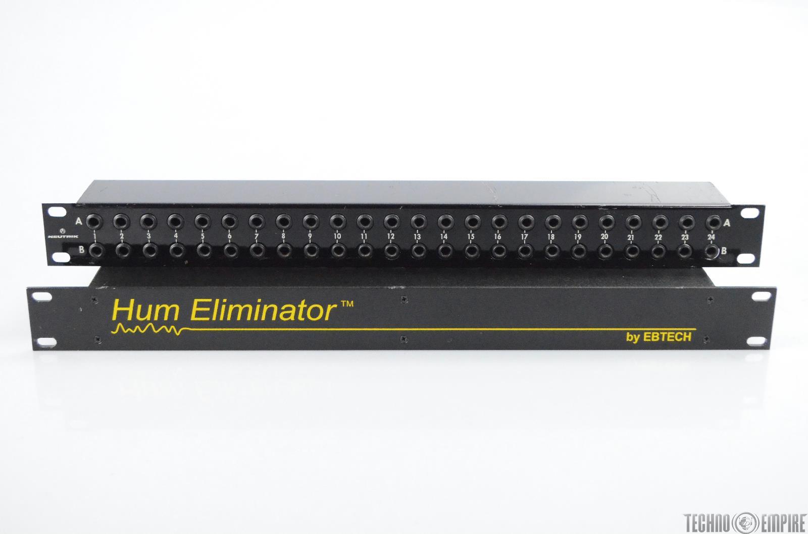 "EBTECH HE-8 Ground Loop & Hum Eliminator w/ Neutrik 1/4"" Inch Patch Bay #31449"