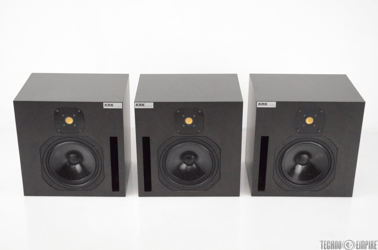 """3 KRK 1002 10"""" Passive 2-Way Ported Studio Reference Monitors w/ Cases #31581"""