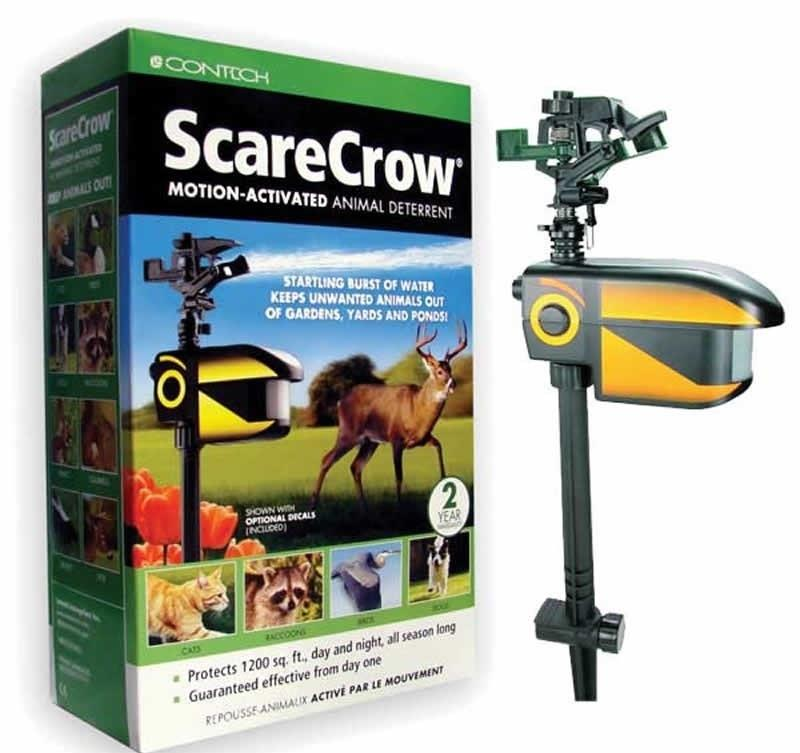 new ortho scarecrow motion activated animal deterent sprinkler Making a Scarecrow new ortho scarecrow motion activated animal deterent sprinkler contech cro102