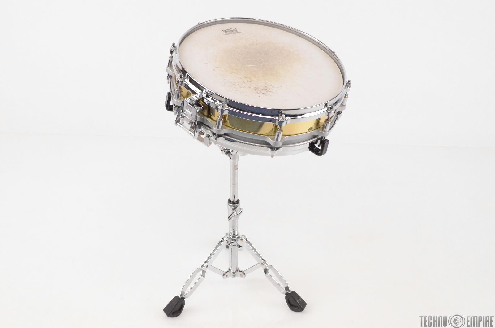 """Pearl Brass Shell 14"""" x 3.5"""" Free Floating Piccolo Snare Drum w/ Stand #31359"""