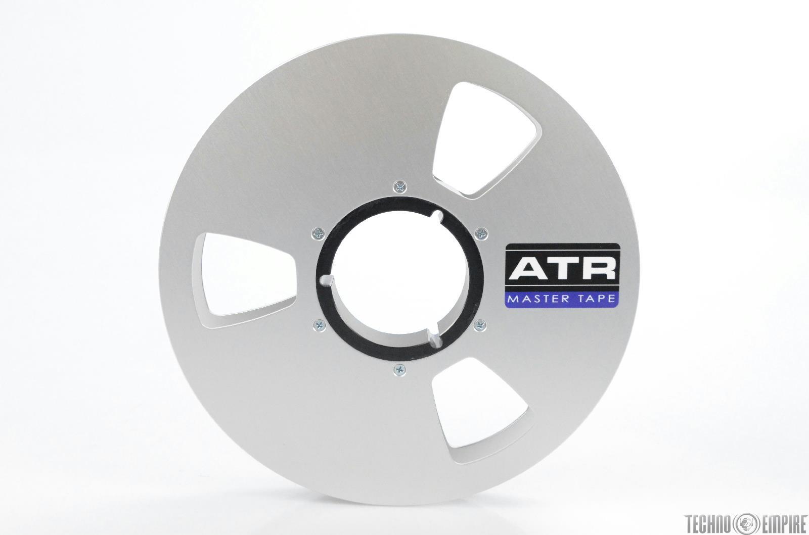 "ATR Magnetics 1″ Empty 10.5"" Silver Metal Take Up Reel w/ Tape Care Box #31587"
