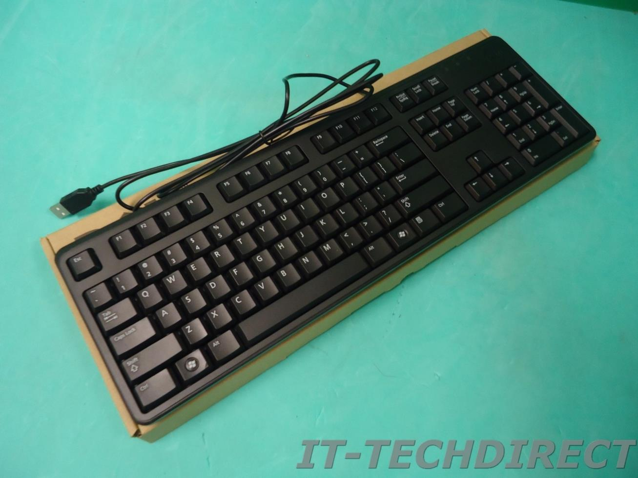 NEW DELL Wired USB 104-key Black Keyboard 5P02F KB4021 KB212-B | eBay