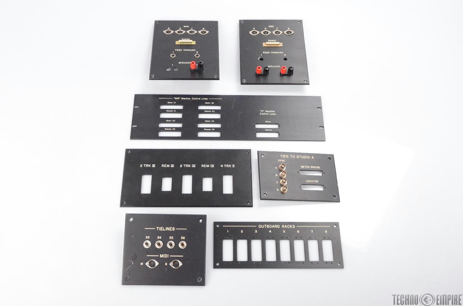 7 Studio Machine Wall i/o Speaker Panel Tielines MIDI R8422 ELCO Sync #31737