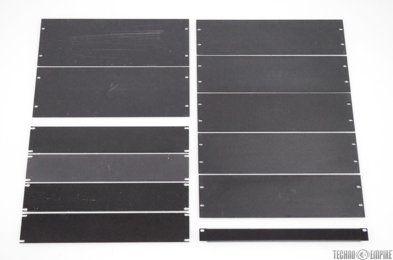 12 Blank 1U 2U 3U 4U Rack Panels Lot 1 2 3 4 Space Rackmount #31735