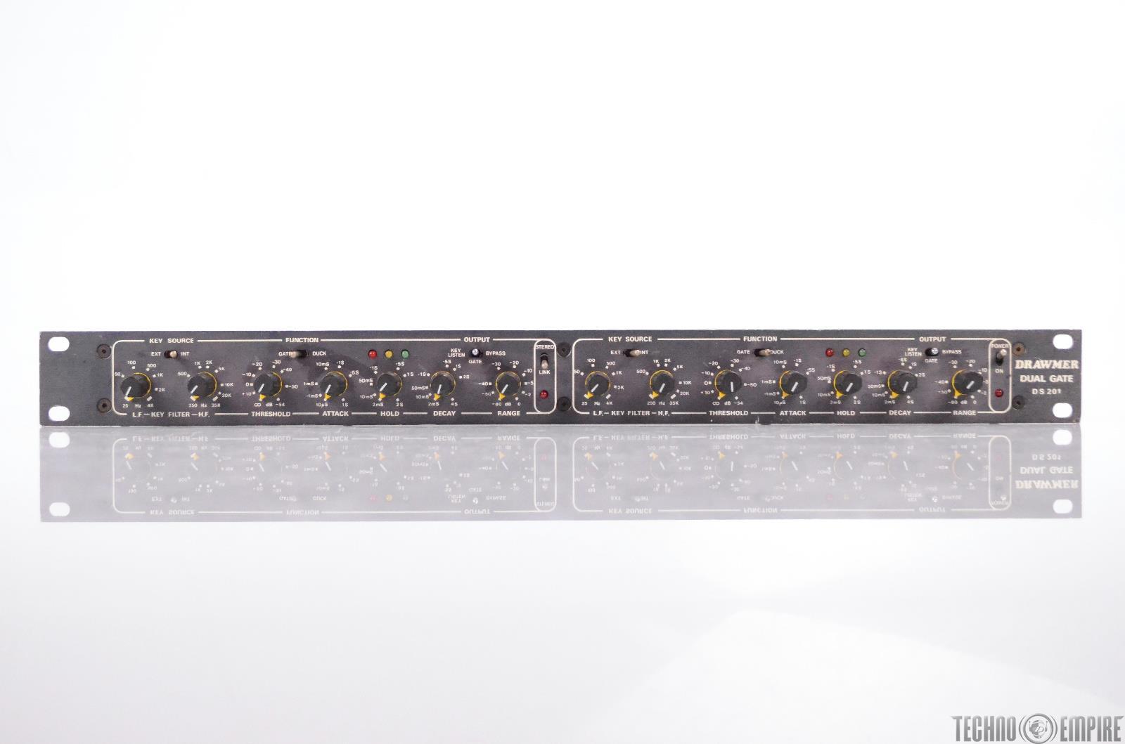 Drawmer DS 201 Stereo Noise Gate & Ducker 2 Channel Dual Rack DS201 XLR #31721
