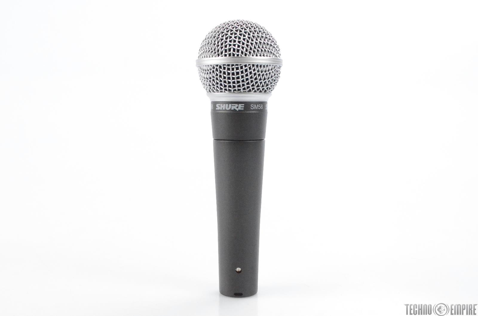 Shure SM58 Dynamic Cardioid Microphone w/ Stand & 2 Clips SM 58 Mic #31772