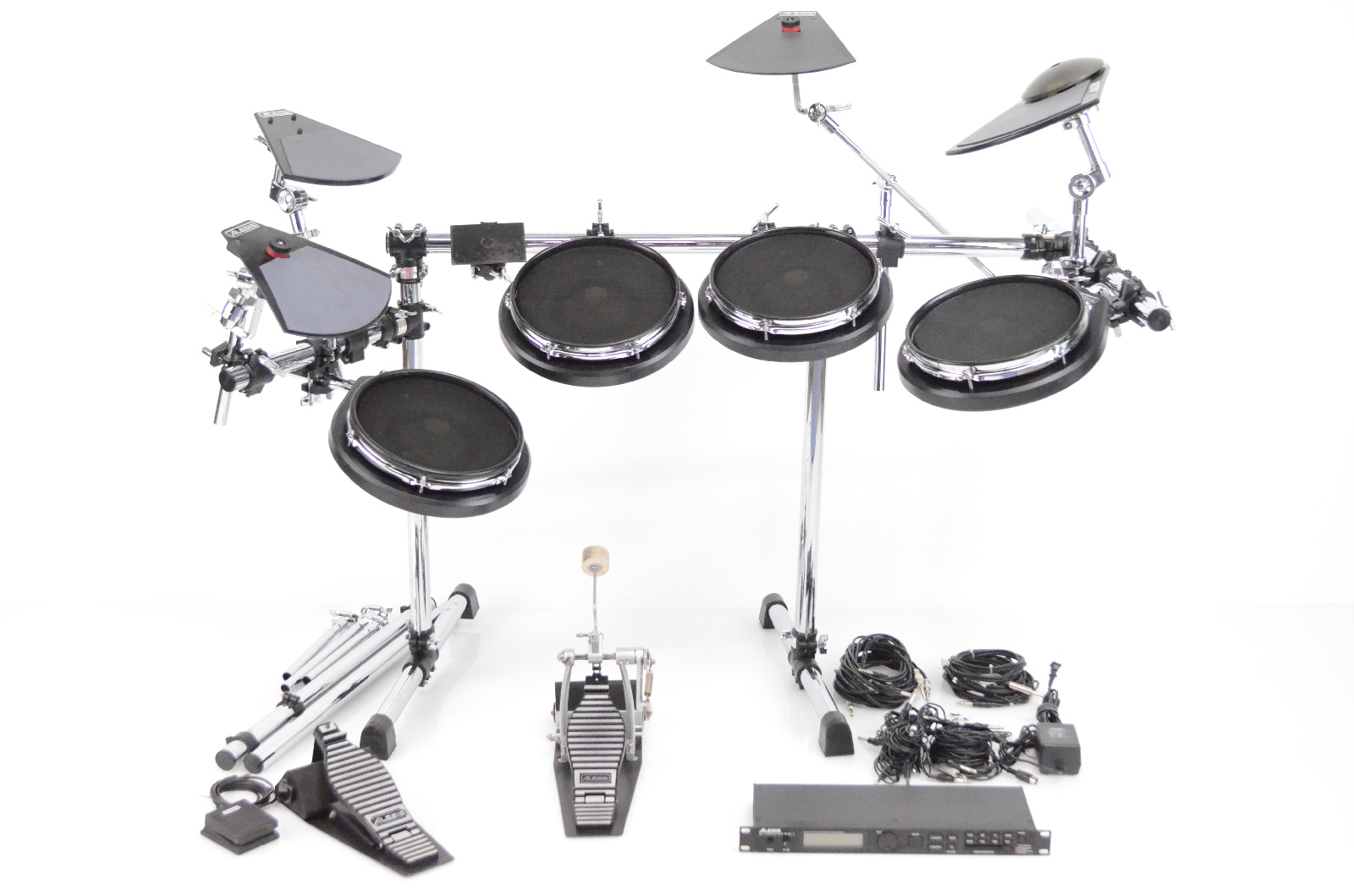 Alesis DM Pro Electronic Drum Set w/ Module Cables Pedals & Hardware #31765