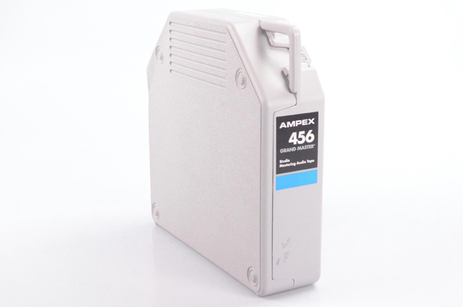 """Ampex 456 Grand Master NOS 2""""x2500' Analog Tape 10.5″ Metal Reel w/ Box #31832"""