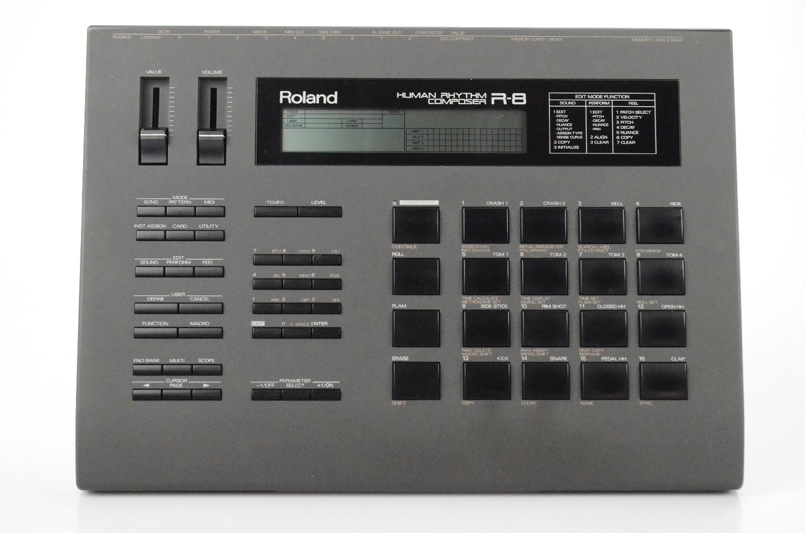 Roland R-8 Human Rhythm Composer Drum Machine w/ Box & M-256D RAM Card  #31798