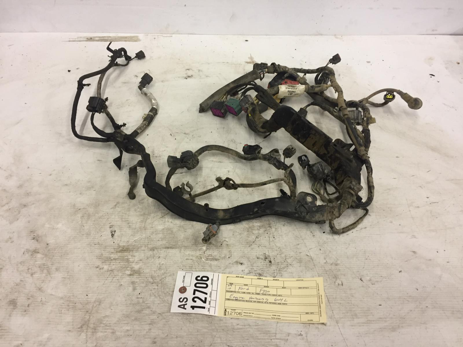 Ford Engine Wiring Harness 2008 2010 F350 64l Powerstroke Part 1882683 As12706