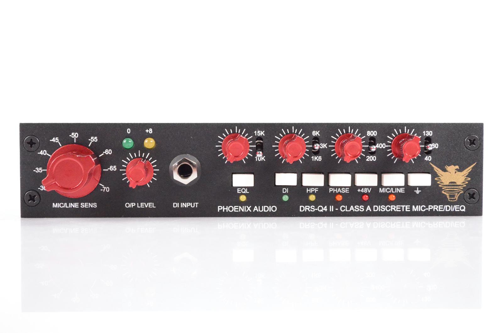 Phoenix Audio DRS-Q4 II Class A Discrete Mic Pre DI EQ DRSQ4 2 Preamp #31927