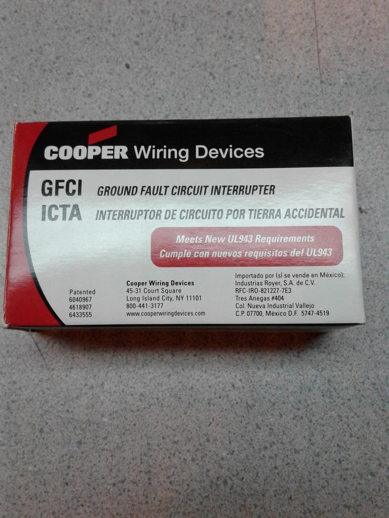 Cooper Wiring Devices Xgf15v Gfci Duplex Receptacle Ivory 15 Amp Ebay