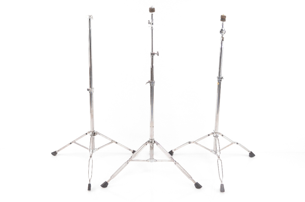 2 Tama Straight Complete Cymbal Stands w/ 1 Tama Cymbal Stand Base #31953