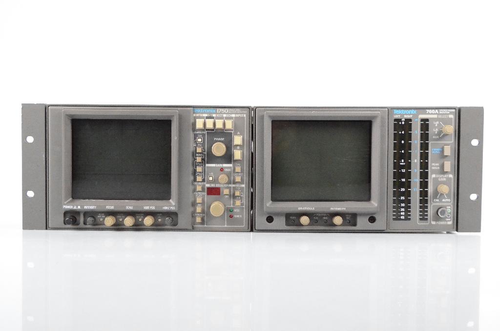 Tektronix 1750 Waveform Vector Monitor & 760A Stereo Audio Monitor #31556