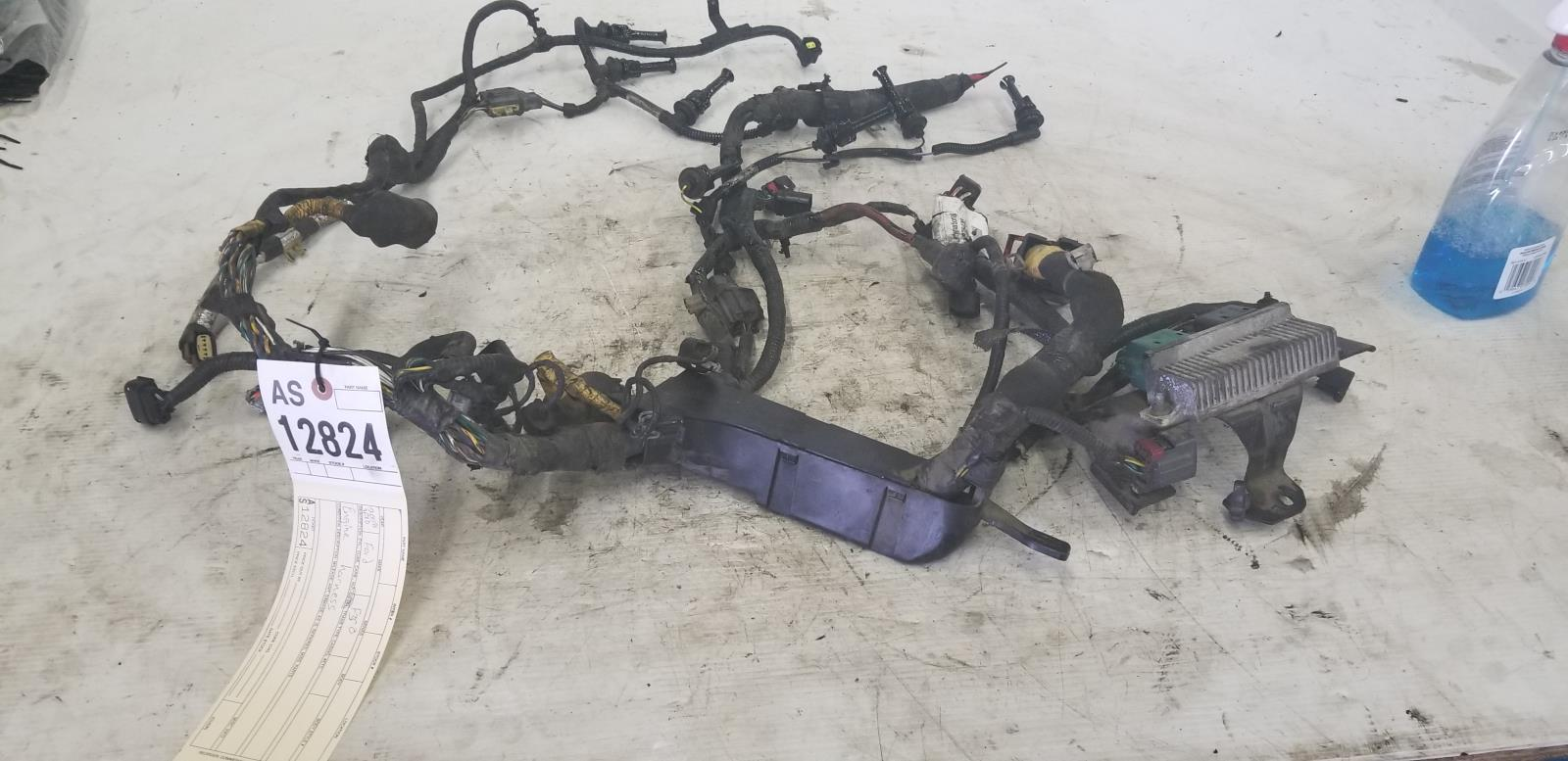 2008-2010 Ford F350 6.4L powerstroke engine wiring harness part 1876436  as12824