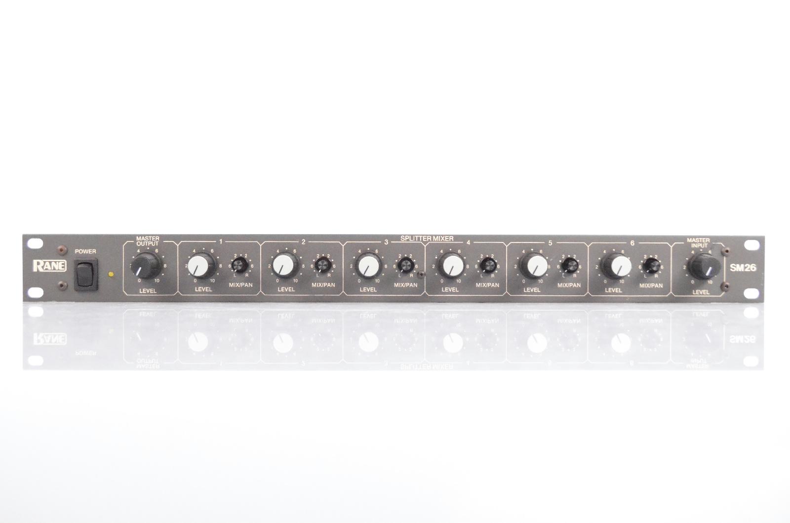 Rane SM26 6 Channel Line Mixer & 2 Way Splitter w/ 11 TS XLR Cables #31915