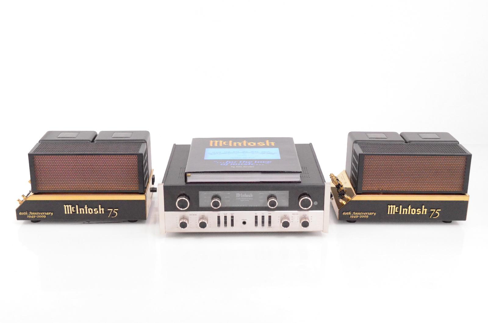 McIntosh 60th Anniversary Ltd Edition C22 & MC75 Preamp Amplifier System #31894