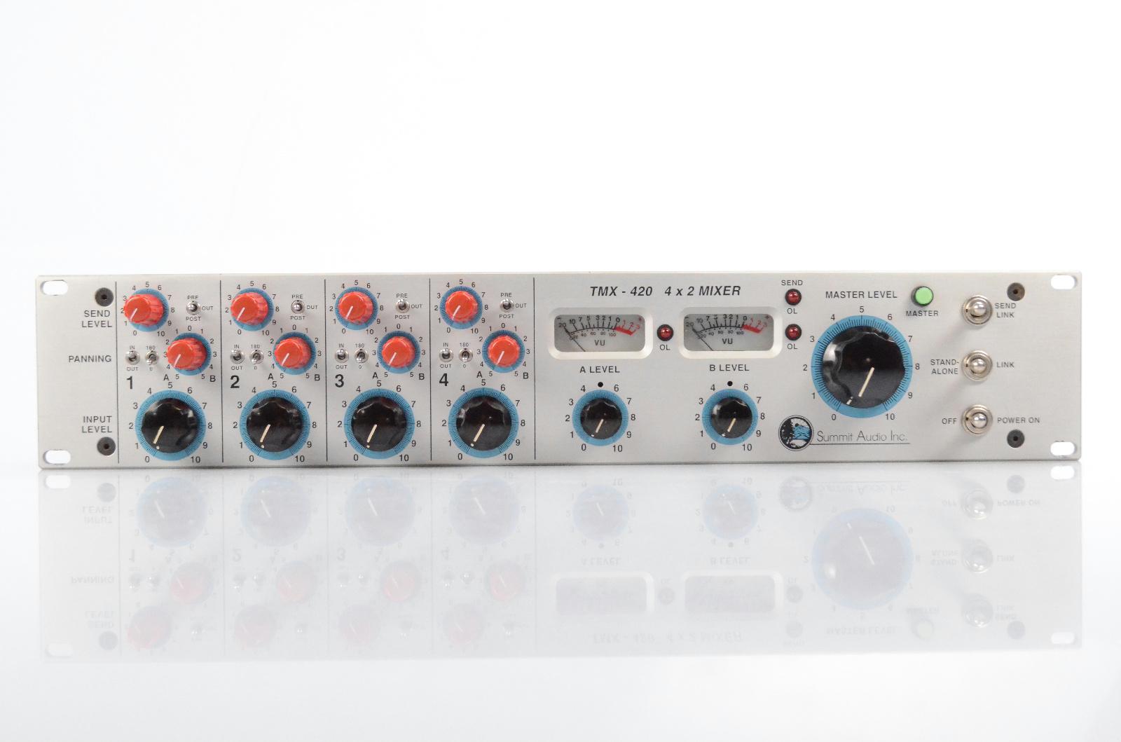 Summit Audio TMX-420 4x2 Line Summing Tube Valve Mixer TMX420 #32062