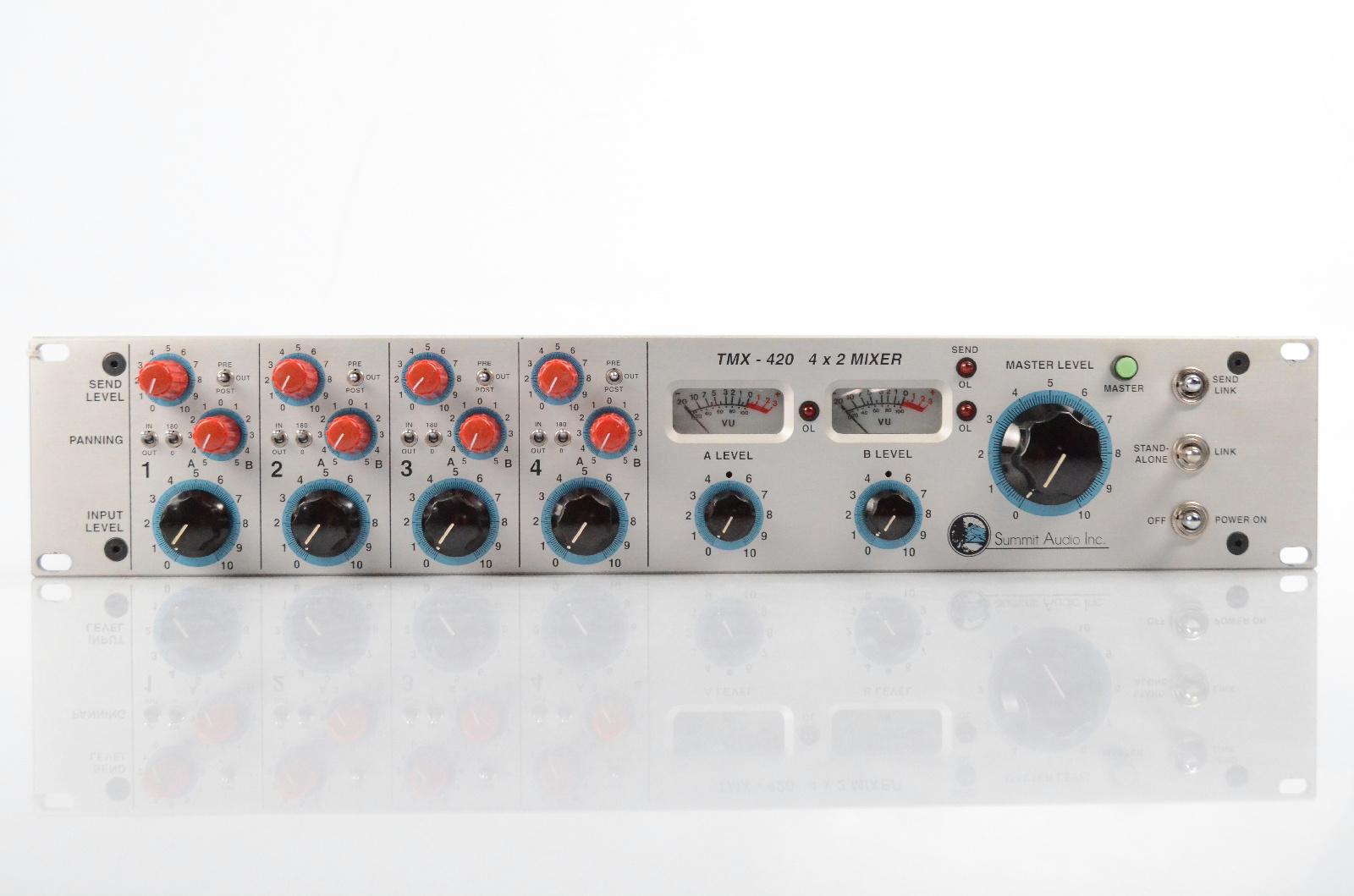 Summit Audio TMX-420 4x2 Line Summing Tube Mixer TMX420 Valve #32058