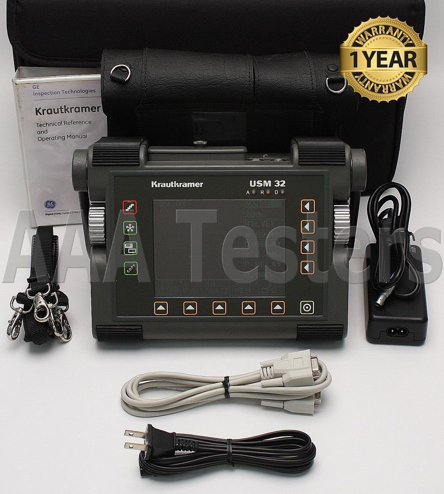 krautkramer ge usm 32x b basic ultrasonic flaw detector thickness rh ebay com