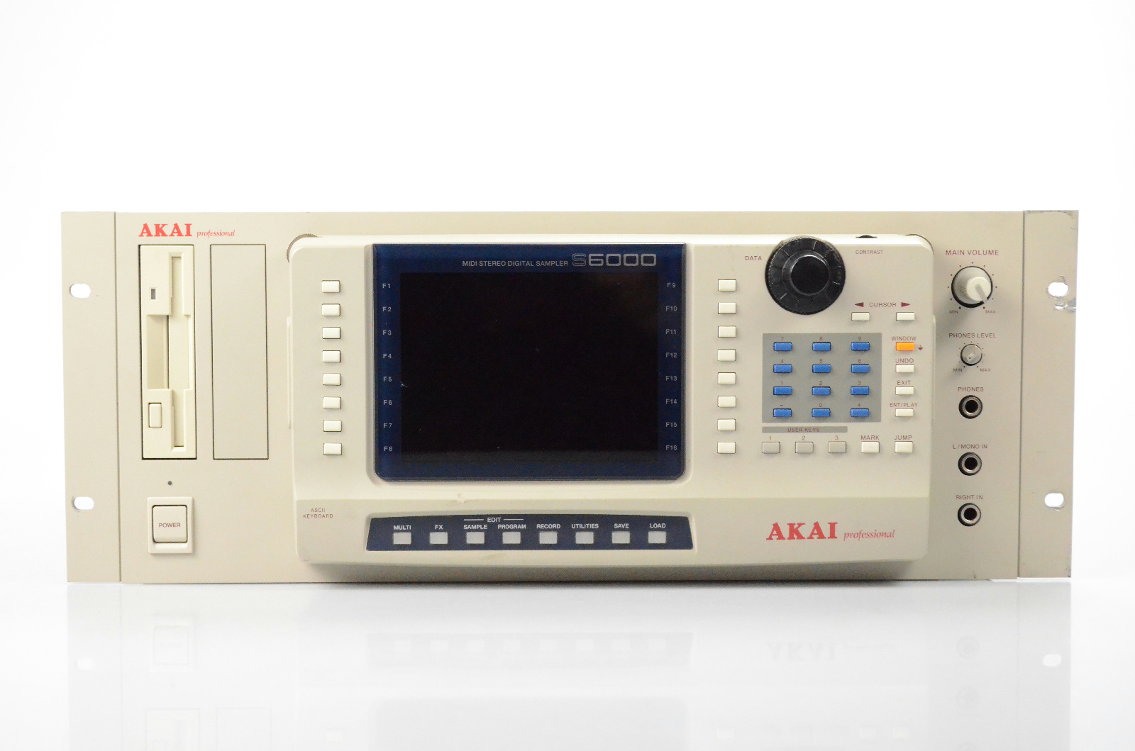 Akai S6000 MIDI Stereo Digital Sampler w/ Manual 256Mb 2.11a S 6000 #32051
