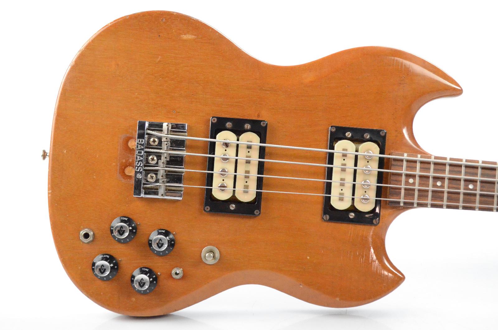 1973 Guild JS II Bass Guitar w/ Hardshell Case Jetstar JSII JS2 2 Natural #32098