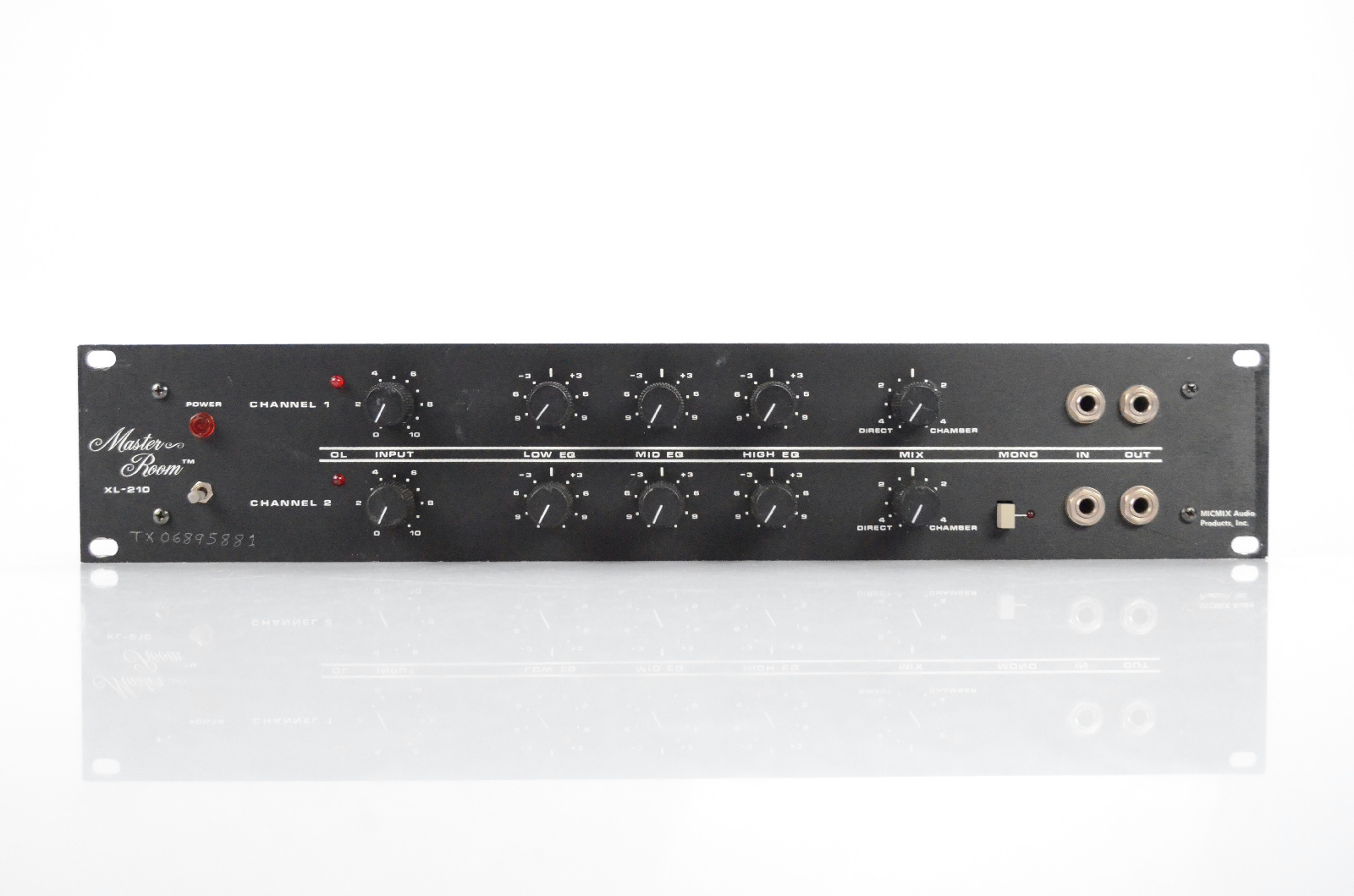 MICMIX Audio Master Room 2 Channel XL-210 Spring Reverb XL210 #32142