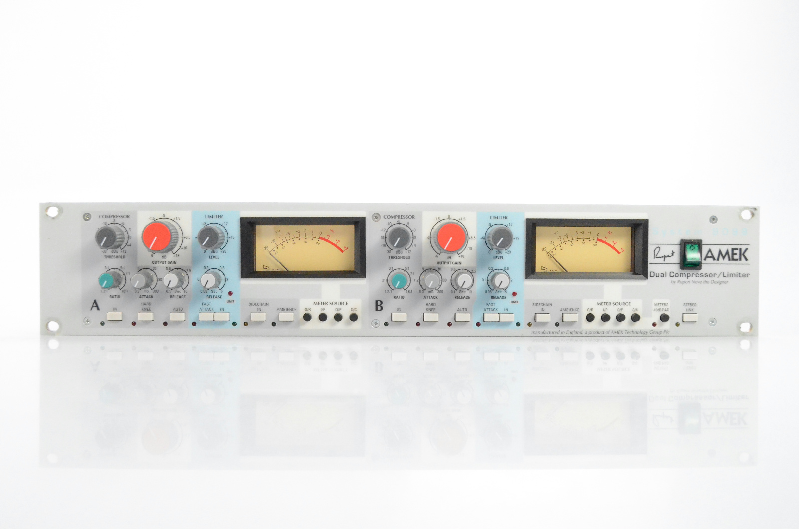 AMEK Series 9098 Dual Compressor & Limiter Designed by Rupert Neve Stereo #32156