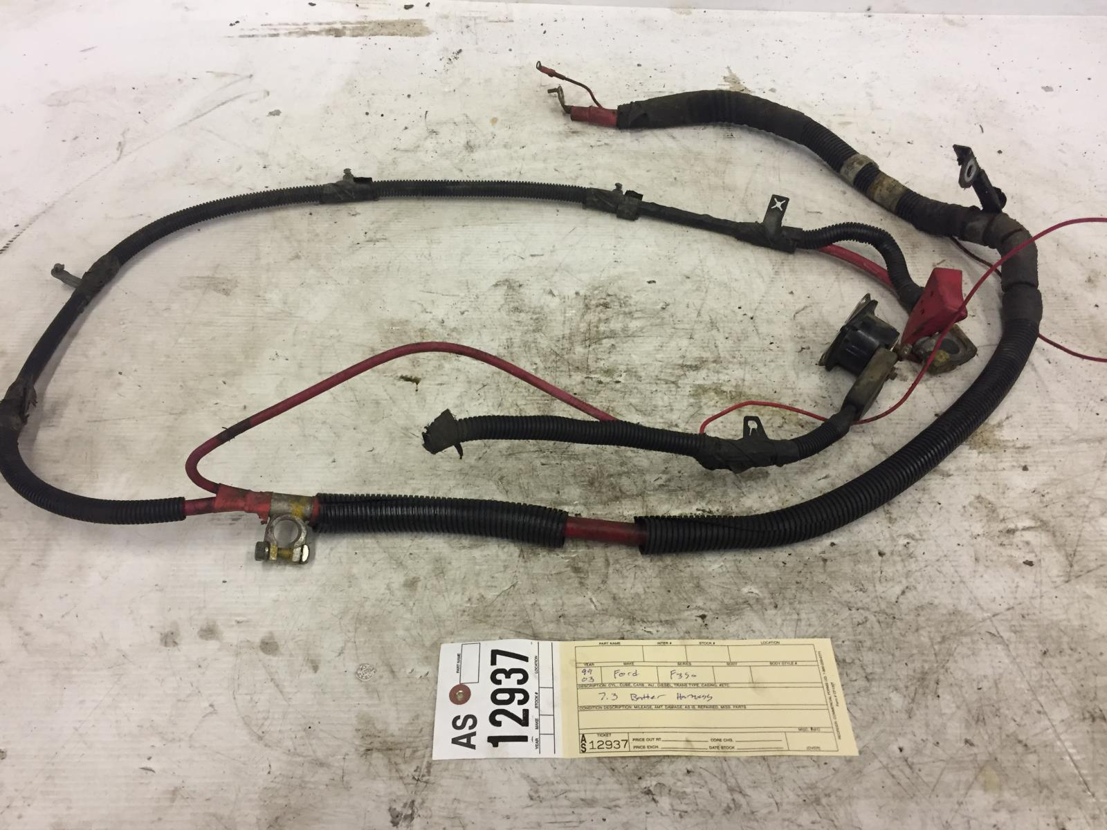 Details About 1999 2003 Ford F350 F250 73l Powerstroke Battery Cable Wiring Harness As12937 7 3