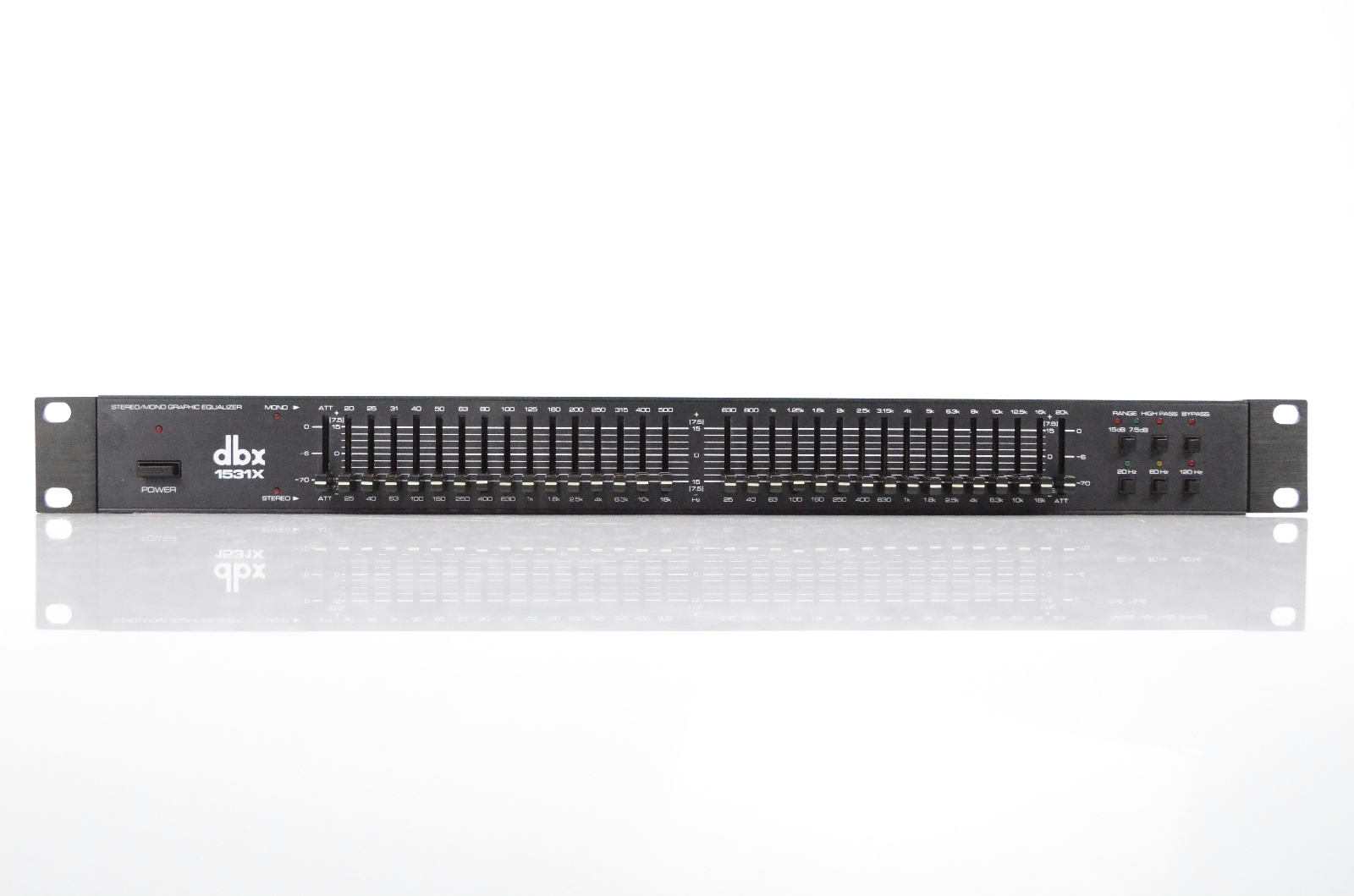 DBX 1531X Stereo/Mono Graphic Equalizer Rack EQ 1531 X High Pass Filter #32203