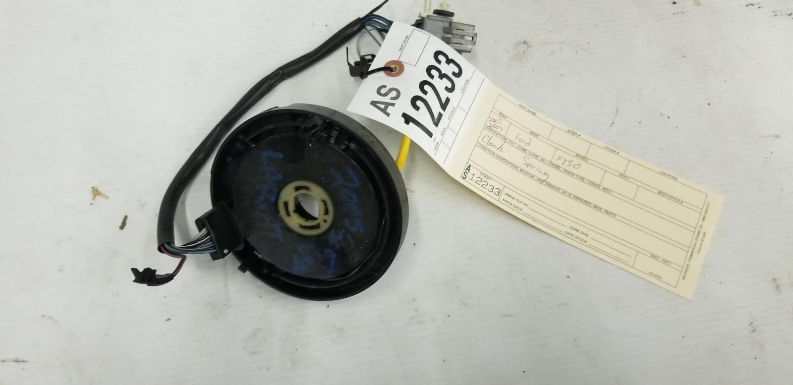 2005 2007 Ford F250 F350 60l Lariat Powerstroke Clock Spring Tag Wiring As12233