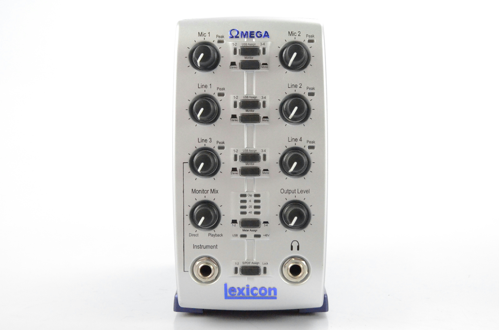 Lexicon Omega Recording USB Audio Interface w/ Box Manuals & Power Supply #32219