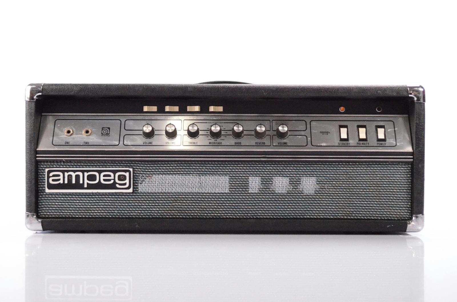 Vintage Ampeg V-4 100 Watt Tube Bass Guitar Amp Head Valve Amplifier V4 #32189