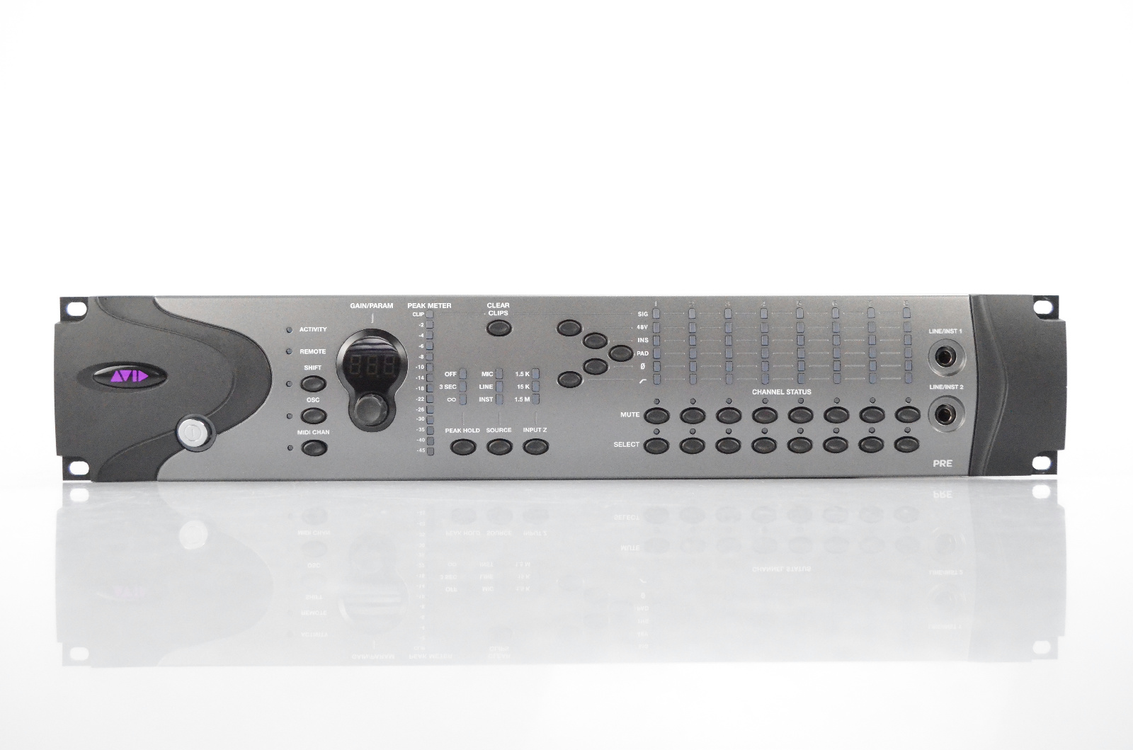 Avid PRE HD 8-Channel Line Microphone Mic Instrument Preamp for Pro Tools #32305