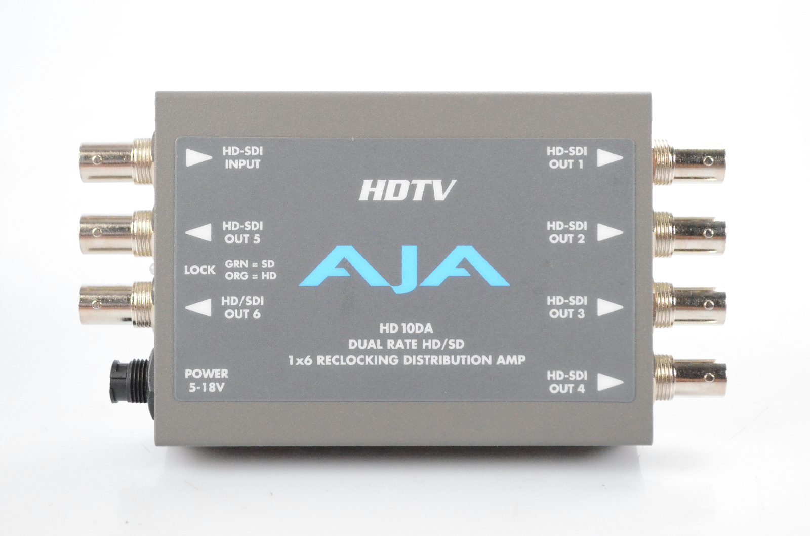 AJA HD 10DA 1x6 Dual Rate HD/SD Reclocking Distribution Amp w/ PSU HD10DA #32379